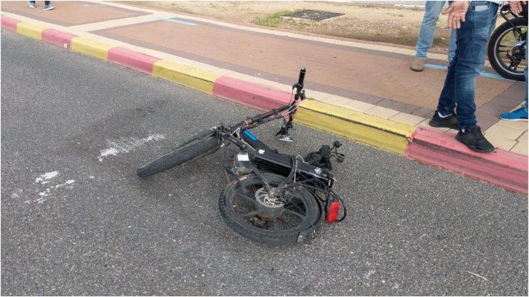 זירת התאונה. צילום: דוברות הצלה פתח תקווה