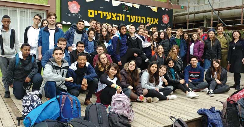 חברי מועצת הנוער העירונית בבוקר הסמינר. מדור נוער