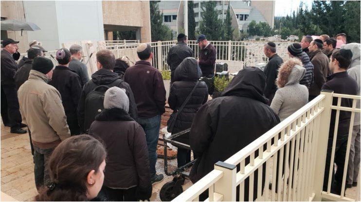 הלווייתו של ניצול השואה חיים פרימל. צילום באדיבות פורום סרוגים