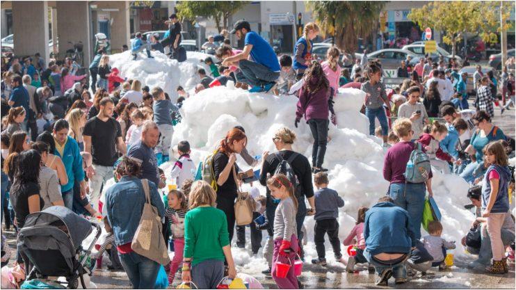 פרויקט שלג על עירי. צילום באדיבות העירייה
