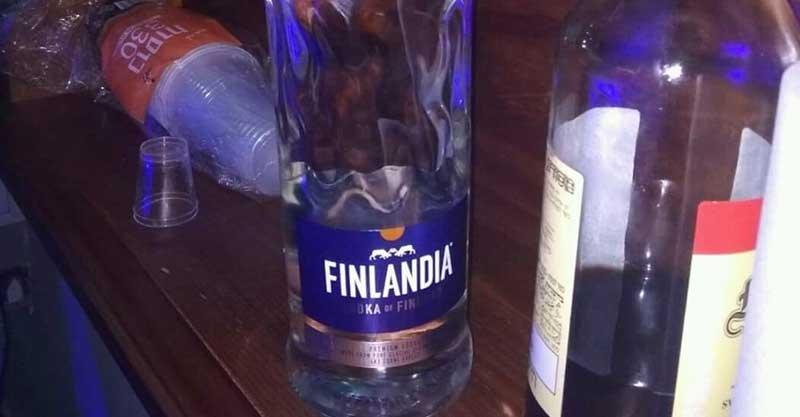 האלכוהול שנתפס במסיבה. צילום השיטור העירוני