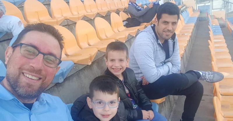 שלומוביץ' עם ילדיו לפני האירועים הקשים