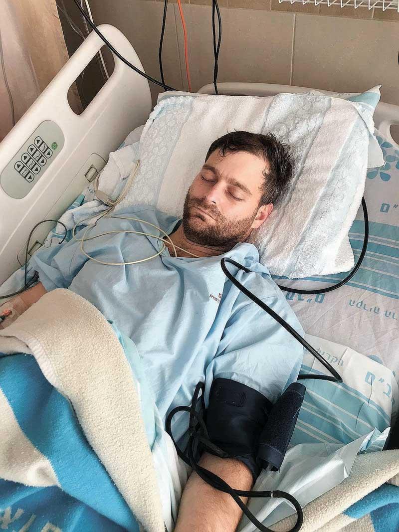 פשכצקי במיון לאחר התאונה