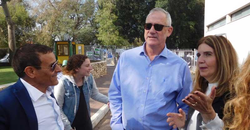 הפנינג בחירות בתיכון בגין ראש העין. צילום באדיבות העירייה