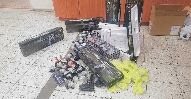 תפיסת צעצועים צילום באדיבות המשטרה