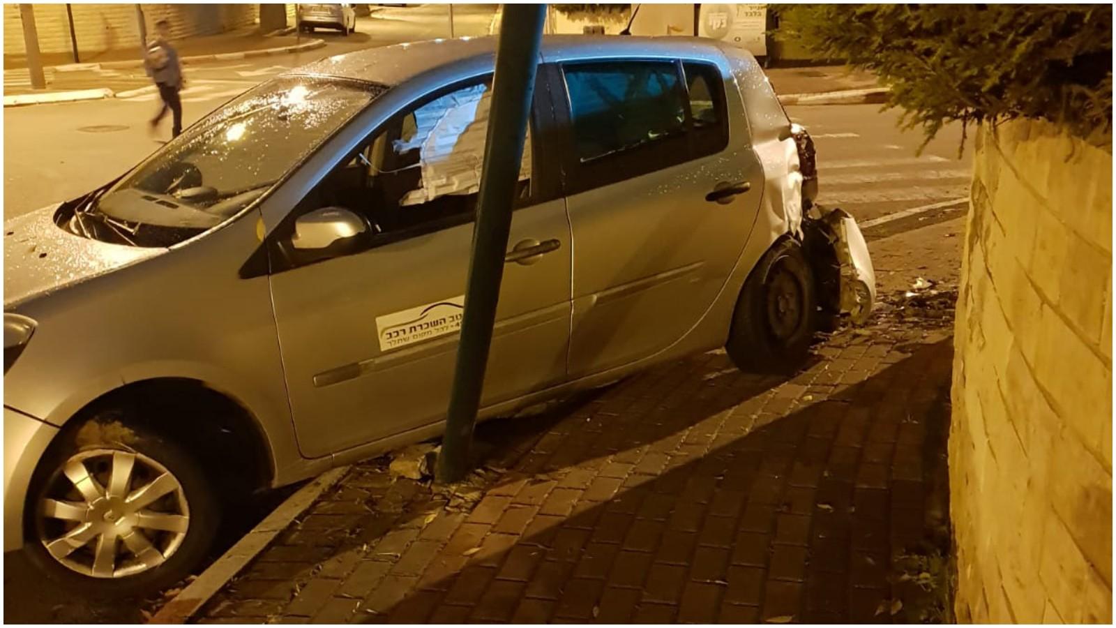 התאונה בפינת הרחובות רמחל ולנדוי בכפר אברהם