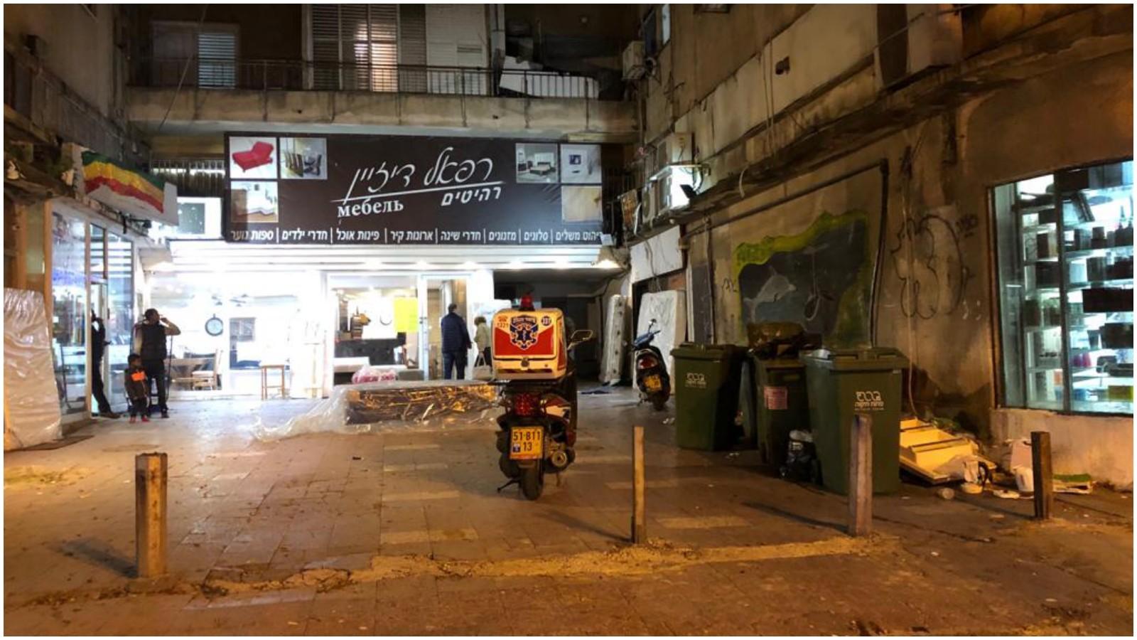זירת נפילה ברחוב הברון הירש. צילום איחוד הצלה