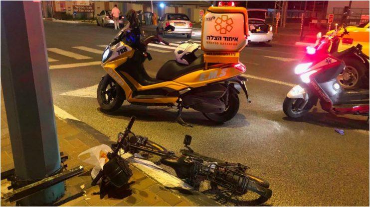 זירת התאונה ברחוב גליס צילום איחוד הצלה