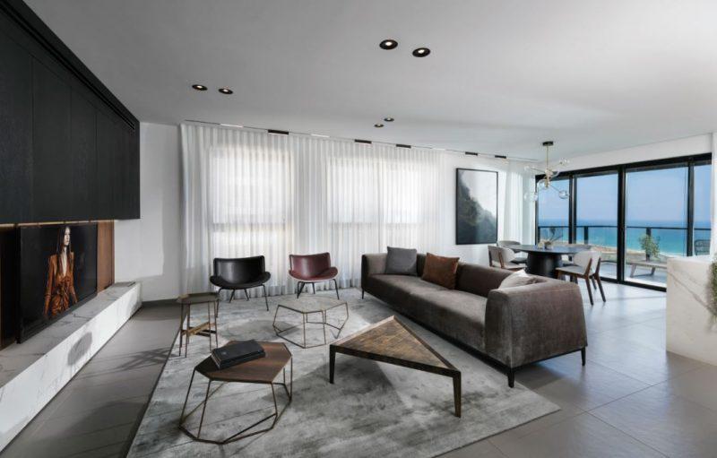 עיצוב דירה עם נוף לים בעיר בת ים. צילום: אלעד גונן.