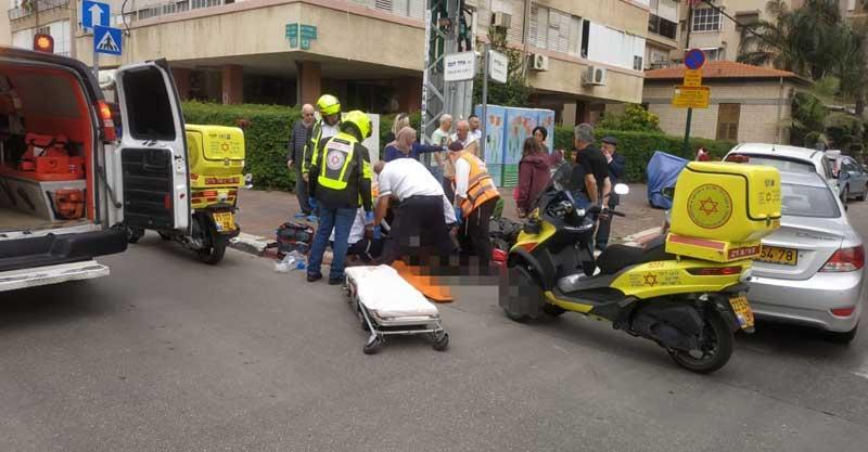 תאונה ברחוב אחד העם-שפיראצילום דוברות הצלה פתח תקווה