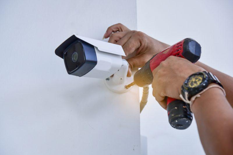 חברות מצלמות אבטחה במרכז. תמונה ממאגר Shutterstock