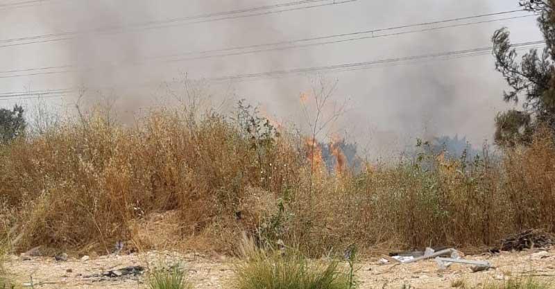 השריפה היום צילום באדיבות המשטרה