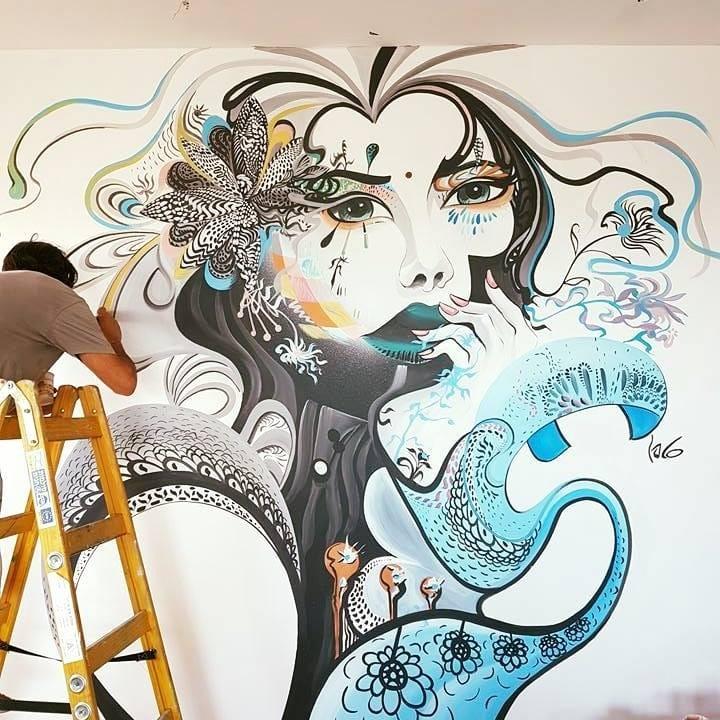 מגיע לאנשים בעזרת ציורי קיר. צילום: סטפן קינן