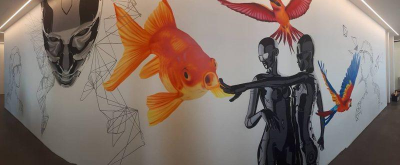 ציורי קיר מהממים שמפעילים את הדמיון. צילום: אלירן שטרית