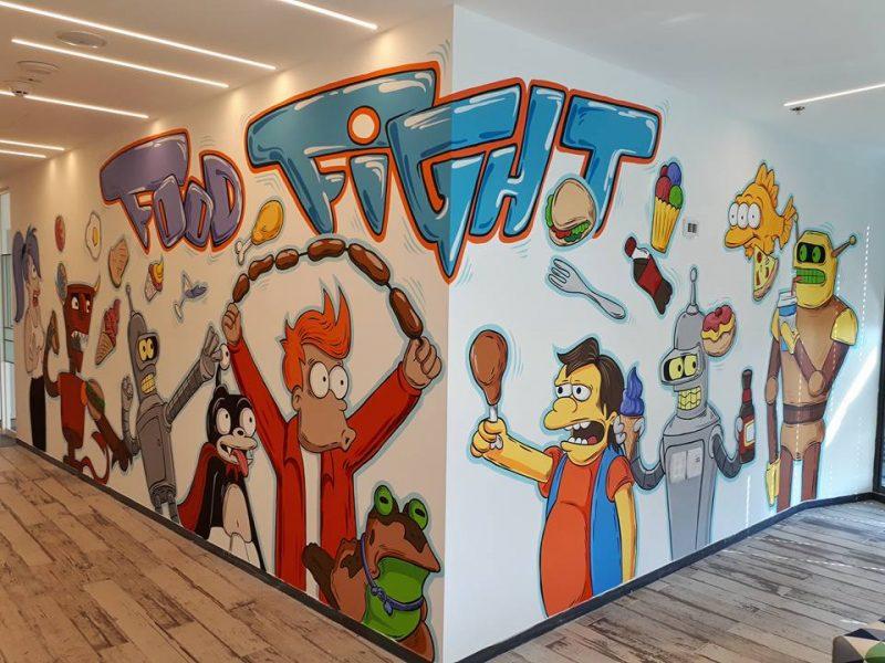 אתם מכירים את הדמויות שעל הקיר? צילום: אלירן שטרית