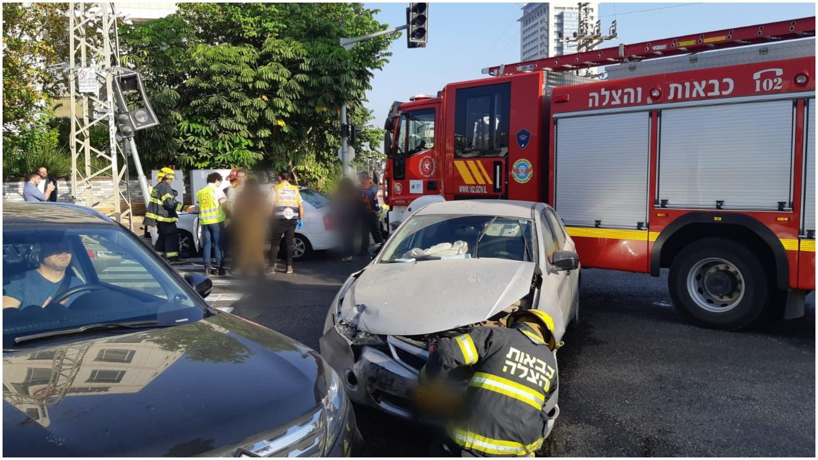 תאונה בפתח תקוה. צילום ארכיון דוברות הצלה פתח תקוה