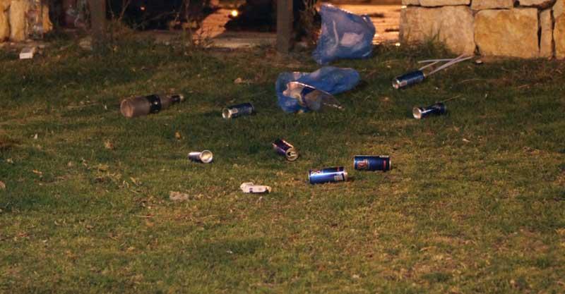 אלכוהול בגינה ציבורית. צילום אילוסטרציה אליהו הרשקוביץ