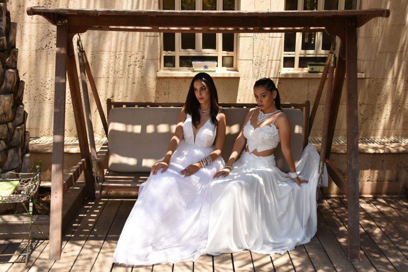 שמלת כלה בעיצובה של קארין בר זוסמן. צילום: ניר יצחקי