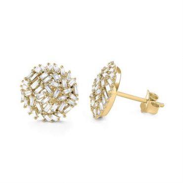 """עגילי זהב משובצות יהלומים. באדיבות """"אלון פז"""""""