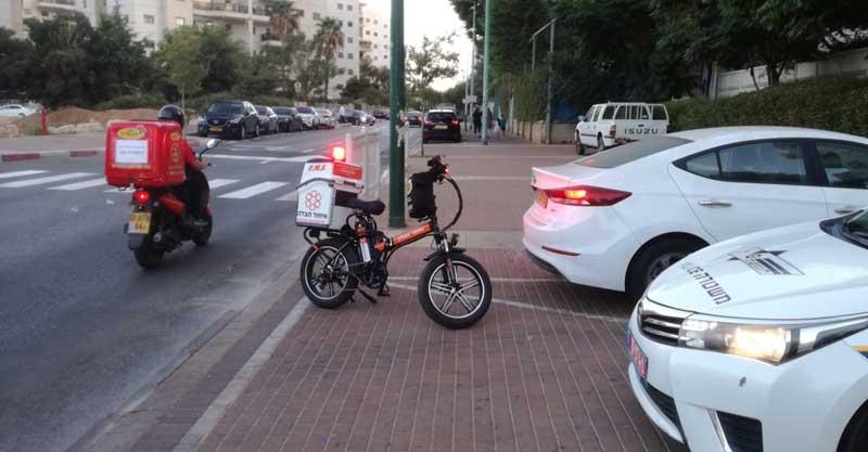 זירת התאונה ברחוב אסירי ציון. צילום באדיבות איחוד הצלה