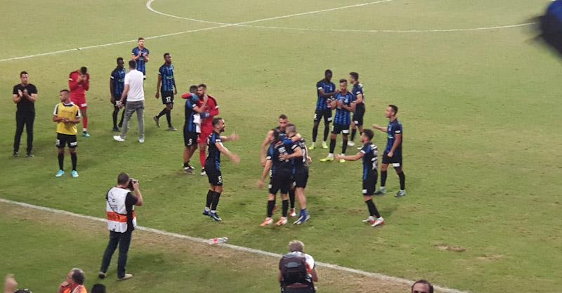 חגיגות הניצחון של שחקני הפועל על רמת גן