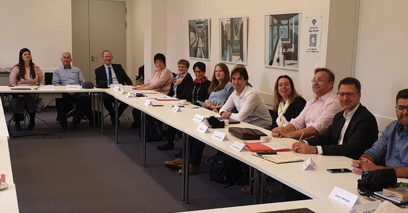 שיתוף פעולה בין עמל ב' בפתח תקוה ותיכון במנהיים גרמניה. צילום משרד החינוך