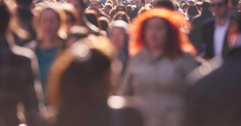 רחוב מלא אנשים