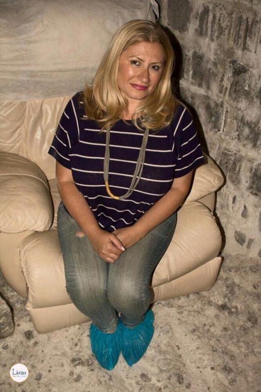 פאיה ספקטור בחדר המלח (צילום: לירז מנדל)