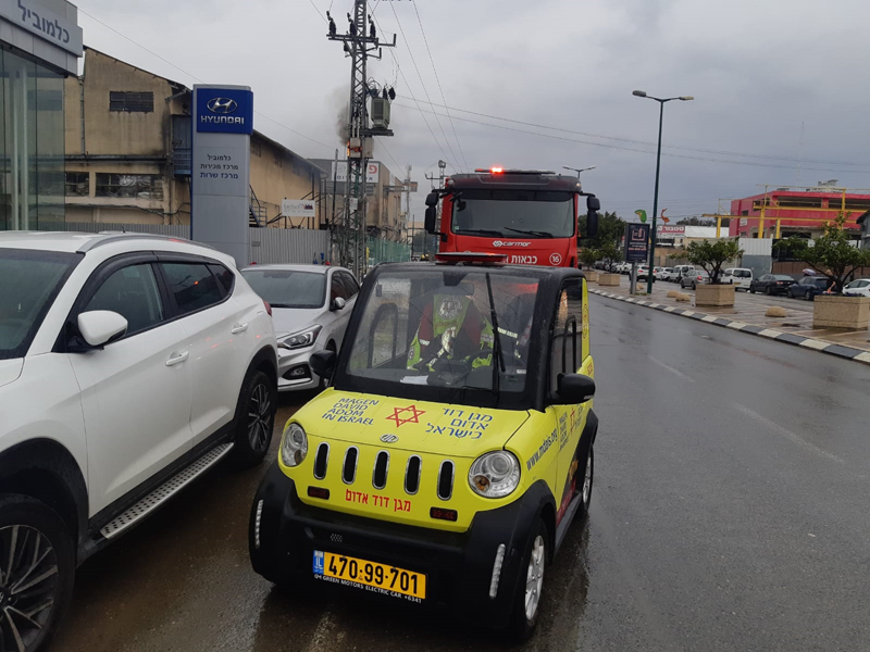 שנאי חשמל שבער ברחוב גיסין. צילום דוברות הצלה