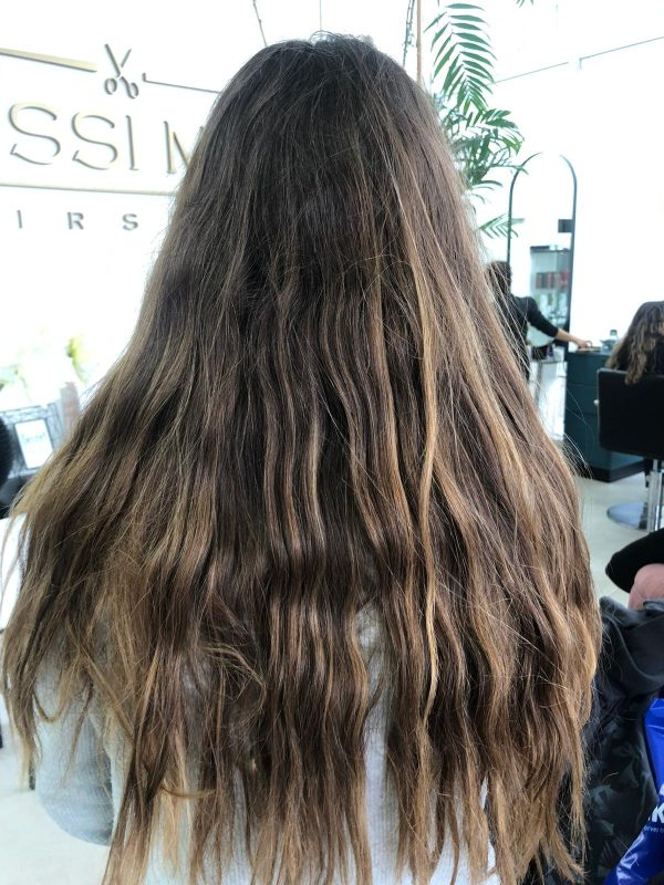 השיער לפני ההחלקה האורגנית (צילום: יוסי מור)
