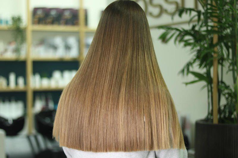 התוצאה לאחר ייבוש בלבד: שיער מלא ברק (צילום: יוסי מור)