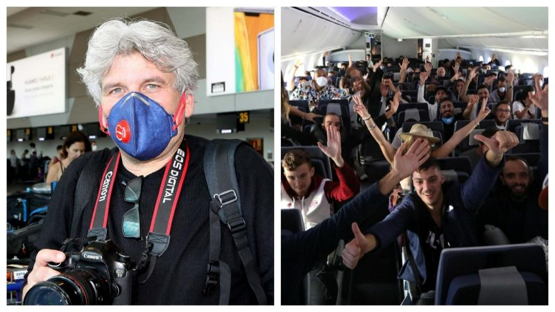 הצלם סיון פרג' הצטרף לאל על בטיסה להחזרת הישראלים מפרו. צילום סיון פרג'