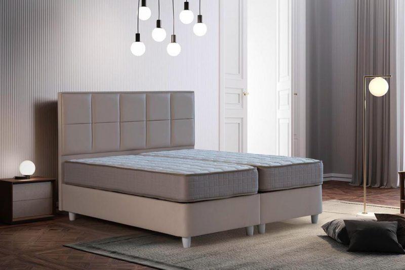 מיטה מרופדת דגם 'יסמין', כוללת ארגז מצעים מתרומם במגוון בדים וצבעים: במקום 3,200 ₪ - ב-2,290 ₪ בלבד (צילום: טופ רהיט)