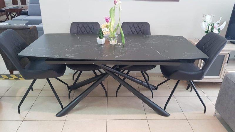"""שולחן 180/90 נפתח ל-230 ס""""מ + 6 כיסאות: במקום 10,590 ₪ - ב-7,890 ₪ בלבד (צילום: טופ רהיט)"""