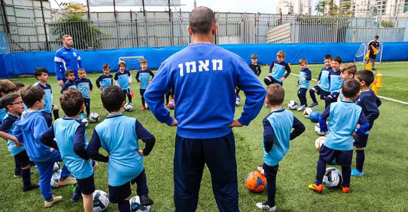 בית הספר לכדורגל של מכבי פתח תקוה. צילום באדיבות מכבי פתח תקוה