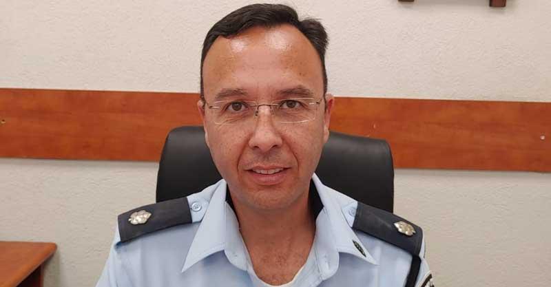 """רפ""""ק שי גז. ממלא מקום מפקד משטרת פתח תקווה. צילום דוברות המשטרה"""