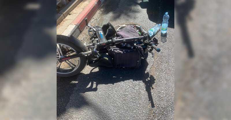 אופניו של אורי אוחיון לאחר התאונה צילום דוברות הצלה
