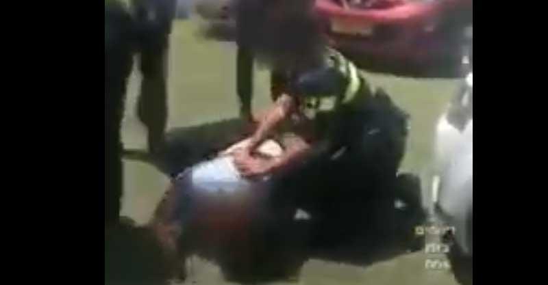 התקרית ברחוב הסיבים. צילום מתוך הסרטון באדיבות דיווחים בזמן אמת