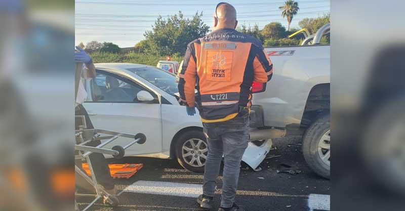 מזירת התאונה בכביש 5 - צילום: תיעוד מבצעי איחוד הצלה