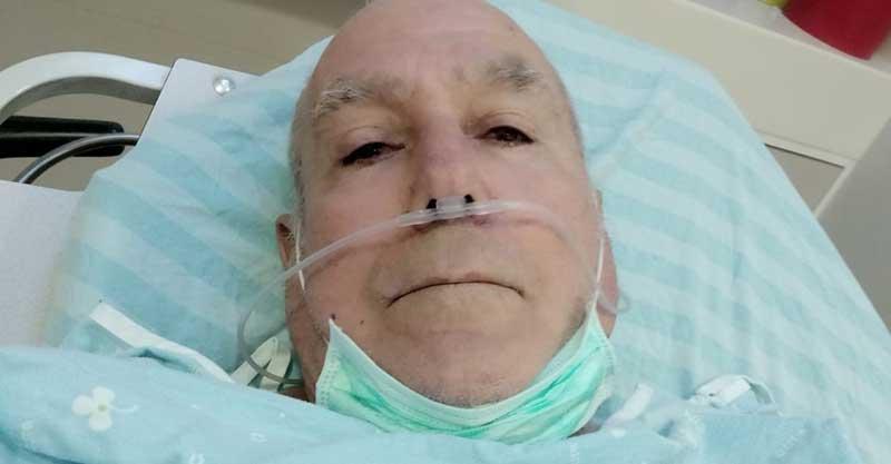 אורי אוחיון בבית החולים צילום פרטי