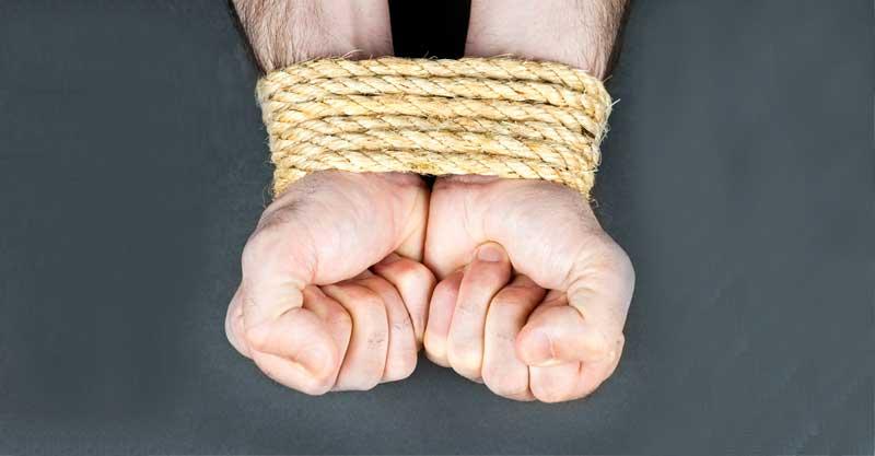 ידיים קשורות בחבל צילום אילוסטרציה א.ס.א.פ קריאייטיב/INGIMAGE