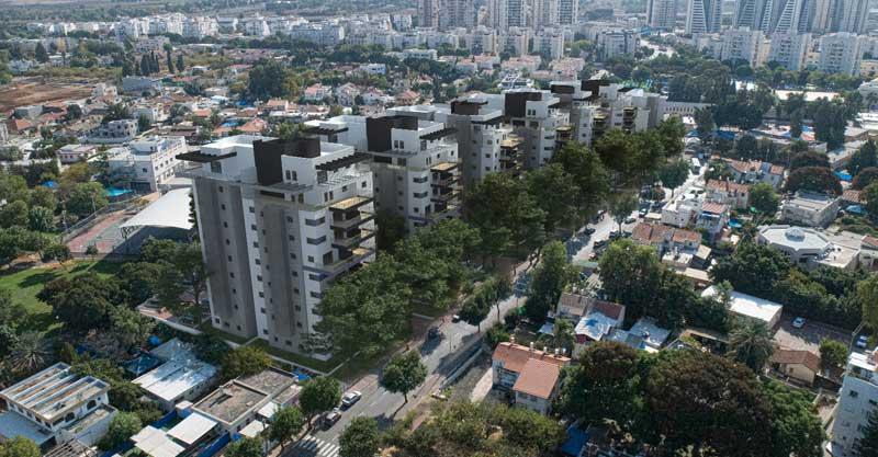 התחדשות עירונית בצלח שלום. הדמייה משרד האדריכלים citybee