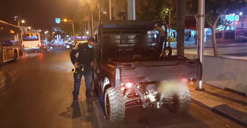 מבצע אכיפה בפתח תקוה נגד נהגי רכבים משופרים ורכבי שטח צילום דוברות המשטרה