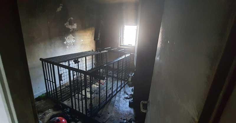 חדר הילדים מהשרפה שפרצה בדירה ברחוב כצנלסון