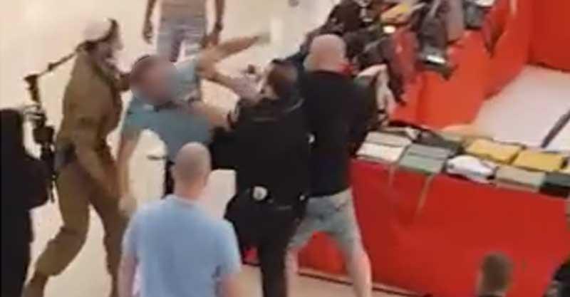 אלימות בקניון הגדול- צילום: דיווחים בזמן אמת בפייסבוק