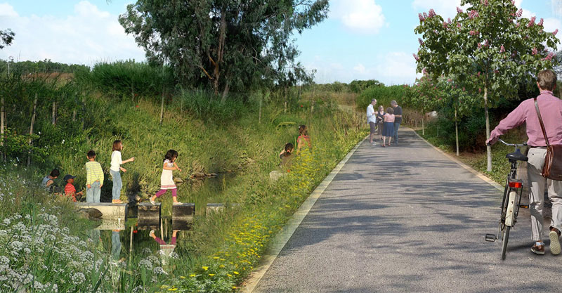 שבילי אופניים ושבילי הליכה: העירייה פועלת לשיקום נחל שילה